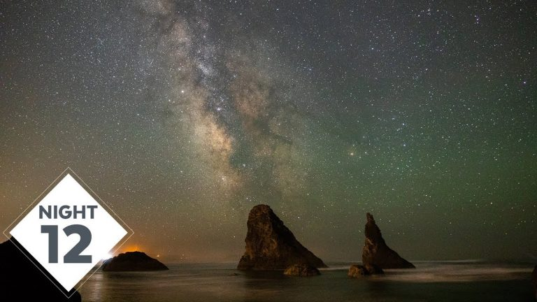 Face Rock State Scenic Viewpoint Milky Way Photography over the Ocean at Bandon, Oregon for Night 12!   #TheGreatMilkyWayChase Vlog