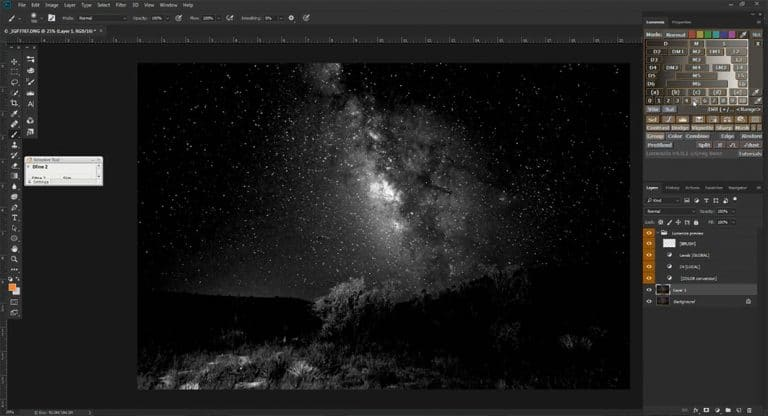 Lumenzia Luminosity Masking Panel For Milky Way Post Processing