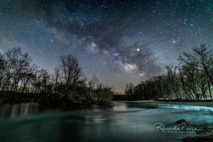 Milky Way rising over the Huzzah Creek