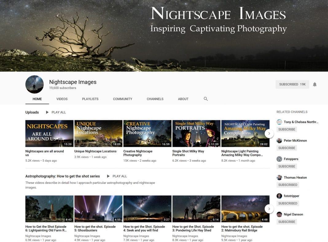 Richard Tatti / Nightscape Images YouTube Page Screenshot