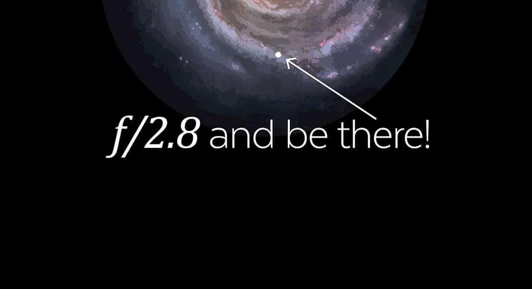 Milky Way Photographers f/2.8 and be there!