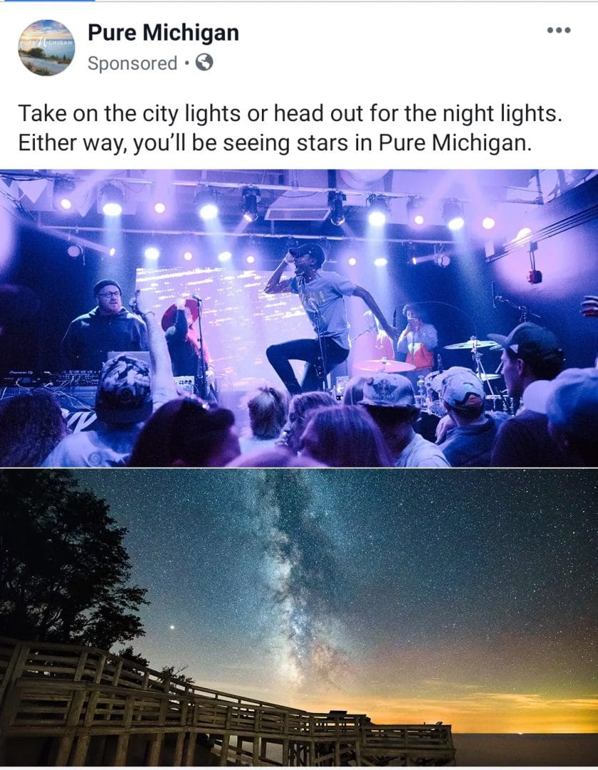 """Pure Michgan Ad. From MilkyWayPhotographers.com, """"Top Milky Way Photography Tricks That Aren't Tricks!"""""""