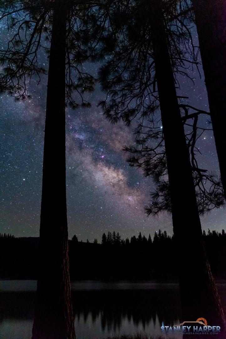 hume lake california Milky Way