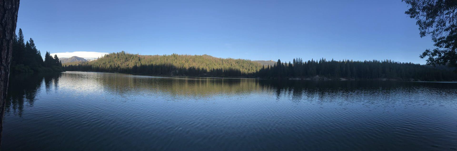 hume lake california pano