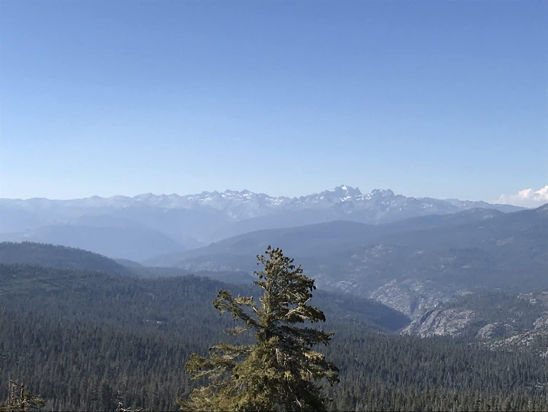 Looking east to the Sierra Nevada.