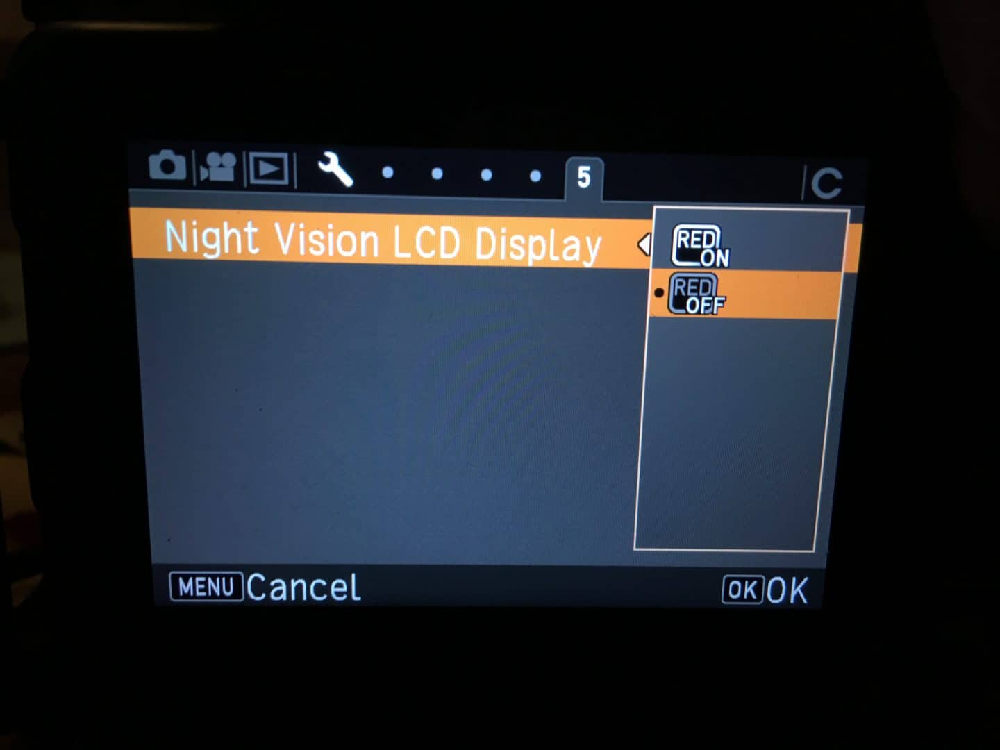 K-1 Night Vision: OFF View