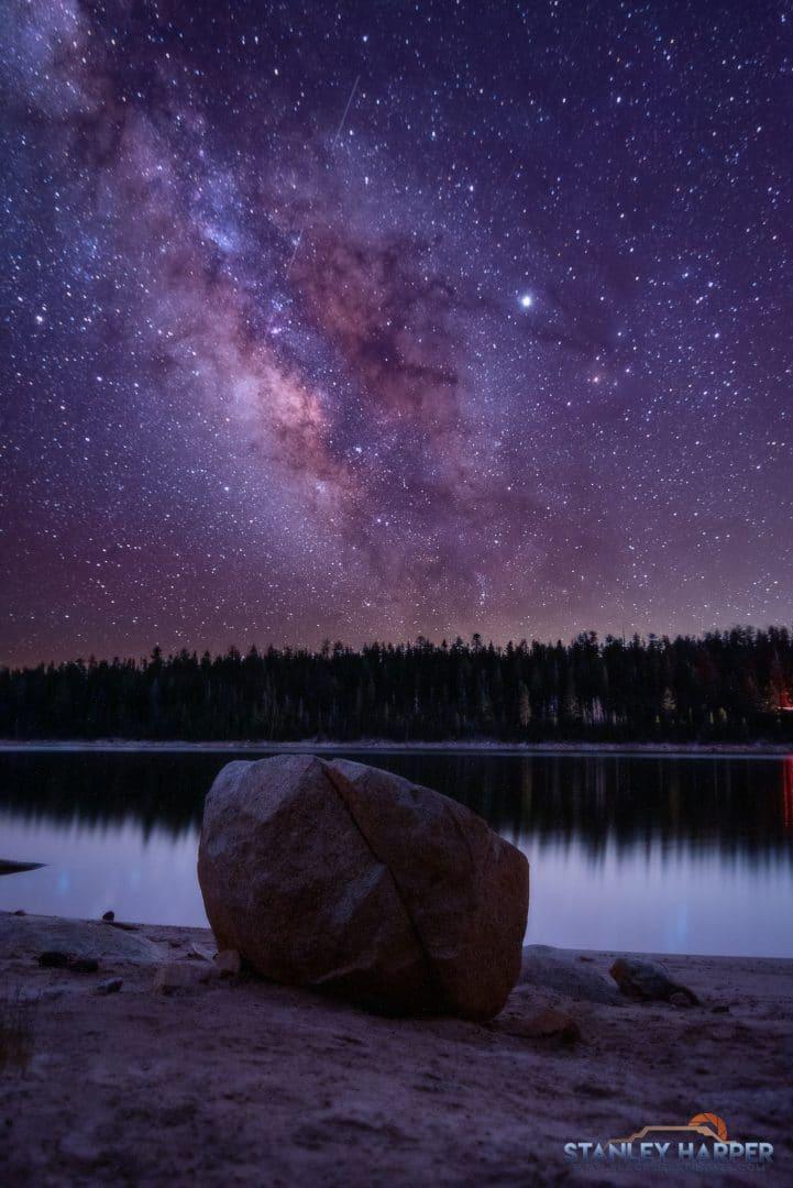 Lake Thomas Edison and Milky Way. sequoia national park