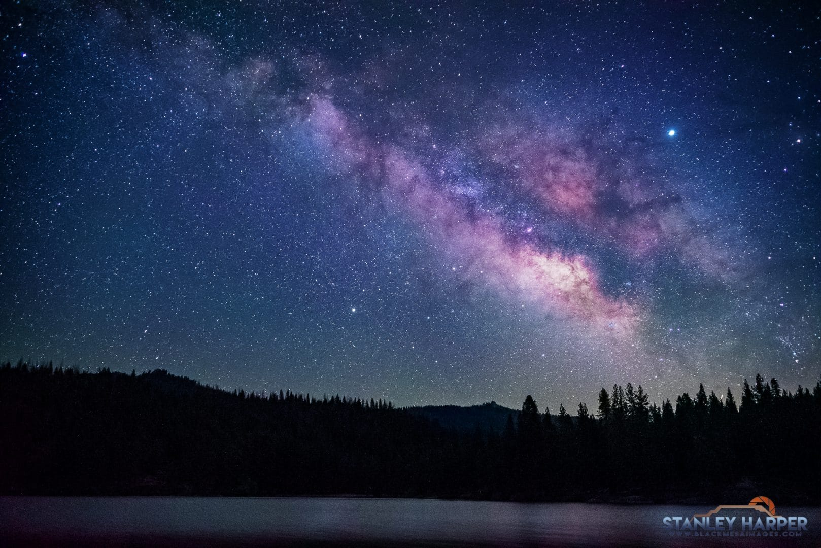 The obnoxious light-polluted skies of California's Central Valley give way to beautiful night skies in the Central Sierra Nevada. Photo by Stanley Harper.