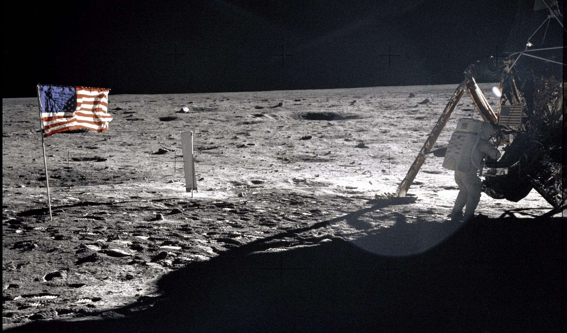 A picture of Neil Armstrong taken by Buzz Aldrin at Tranquility Base.  Photo Courtesy of NASA. Who Owns the Moon?