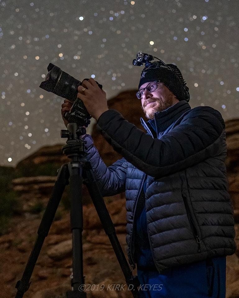 Portrait of Brendon Porter, Canyonlands, UT, 05/03/2019 Our MilkyWayPhotographers Favorite 2019 Photos. Copyright Kirk D. Keyes