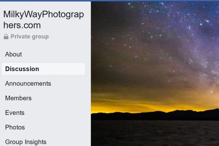 A NEW Facebook Group for MilkyWayPhotographers