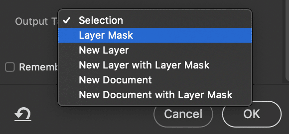 """Select """"Layer Mask"""" How to create focal length blends"""