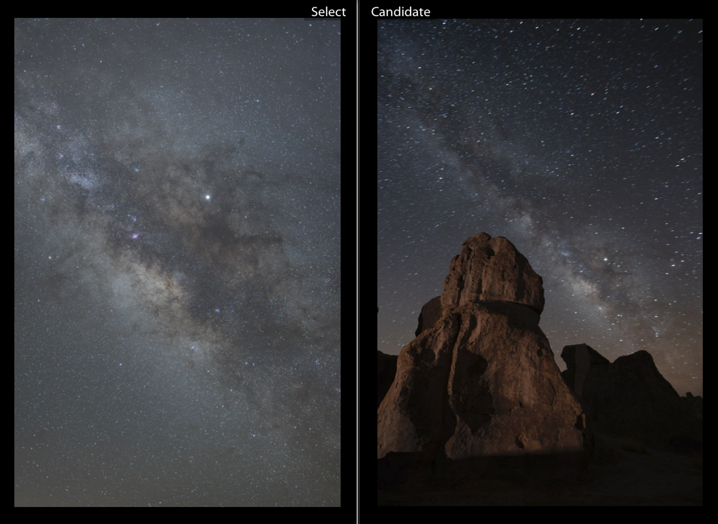 Two example files. How to create focal length blends. Photo By Aaron Martinez.