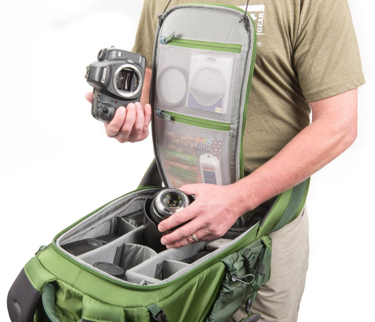 The MindShift BackLight 26 rear access backpack provides access to your photo gear without taking off the backpack. Image Courtesy www.ThinkTankPhoto.com
