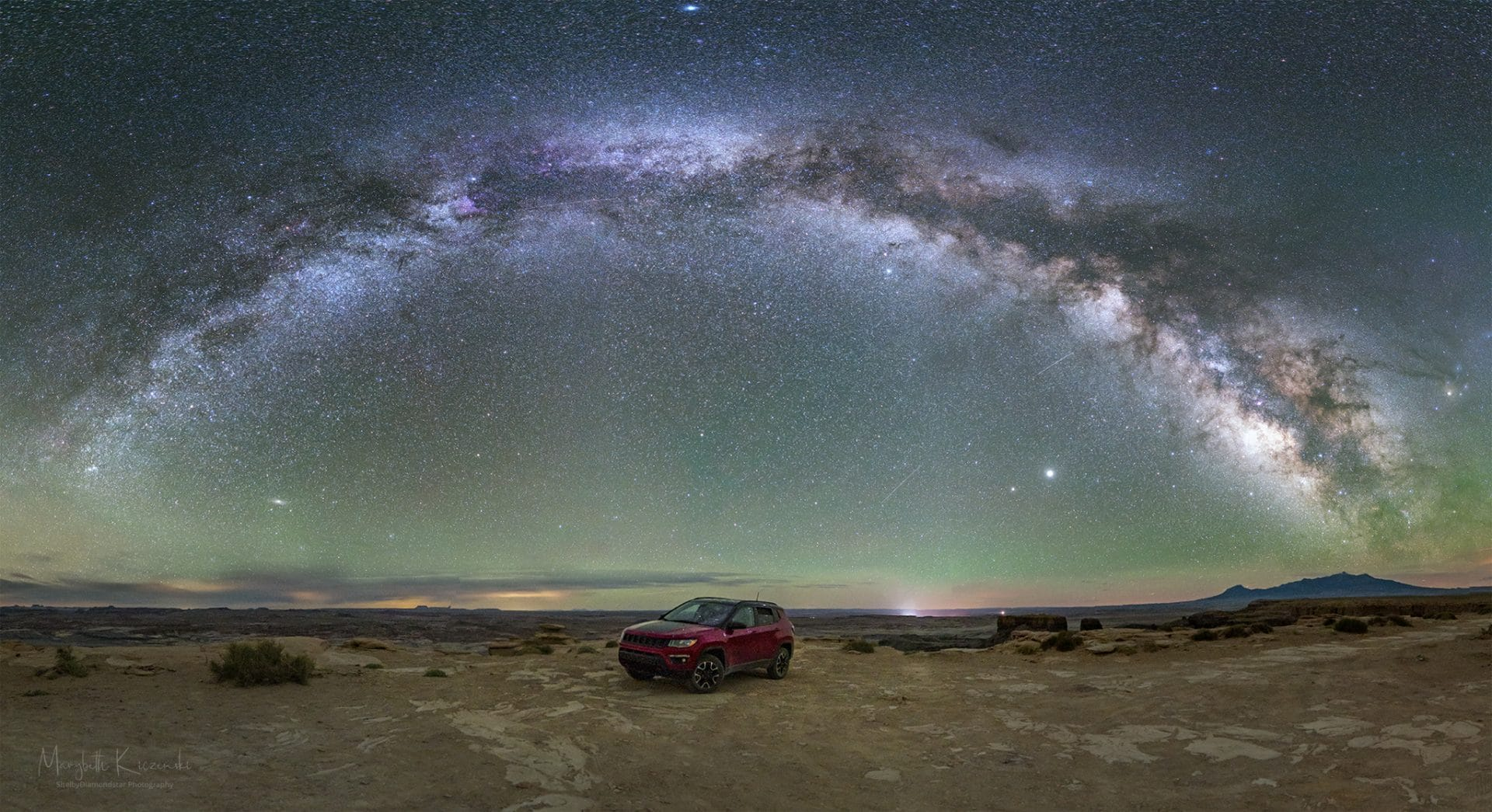Little Jeep and the Milky Way Rainbow. Copyright 2020 MaryBeth Kiczenski.