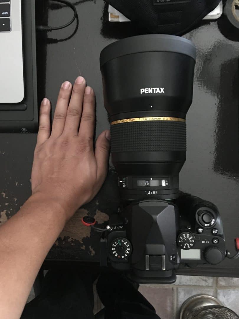 Pentax 85mm size demonstration