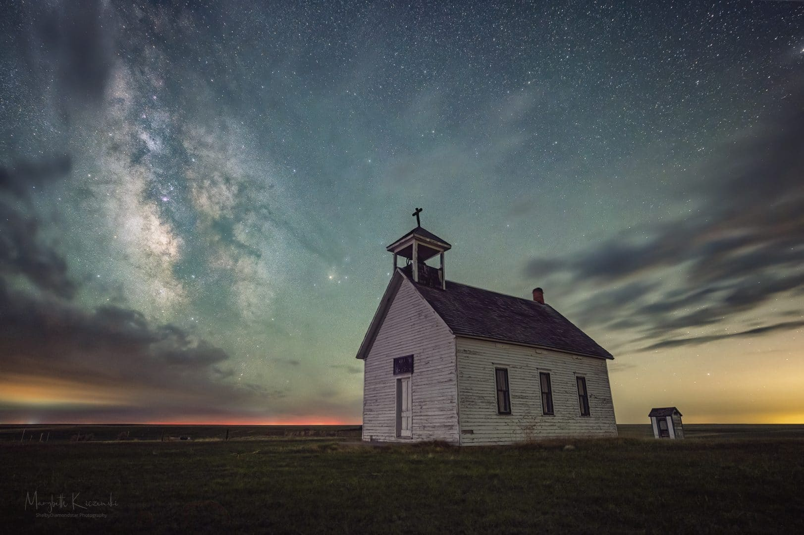 Alton Church - Outside of Denver, CO.  Nikon Z6/Nikkor 14-24mm. Tracked/Untracked shot. Copyright 2020 MaryBeth Kiczenski.