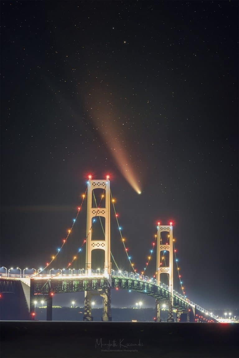 Anatomy of an Image – Mackinac Bridge and Comet NEOWISE