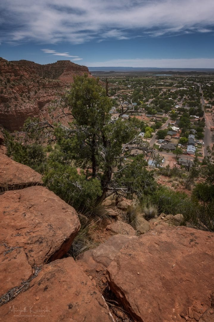 Squaw Trail offers some nice views of Kanab.  Nikon Z6 - Nikkor 14-24mm. Copyright 2020 MaryBeth Kiczenski.