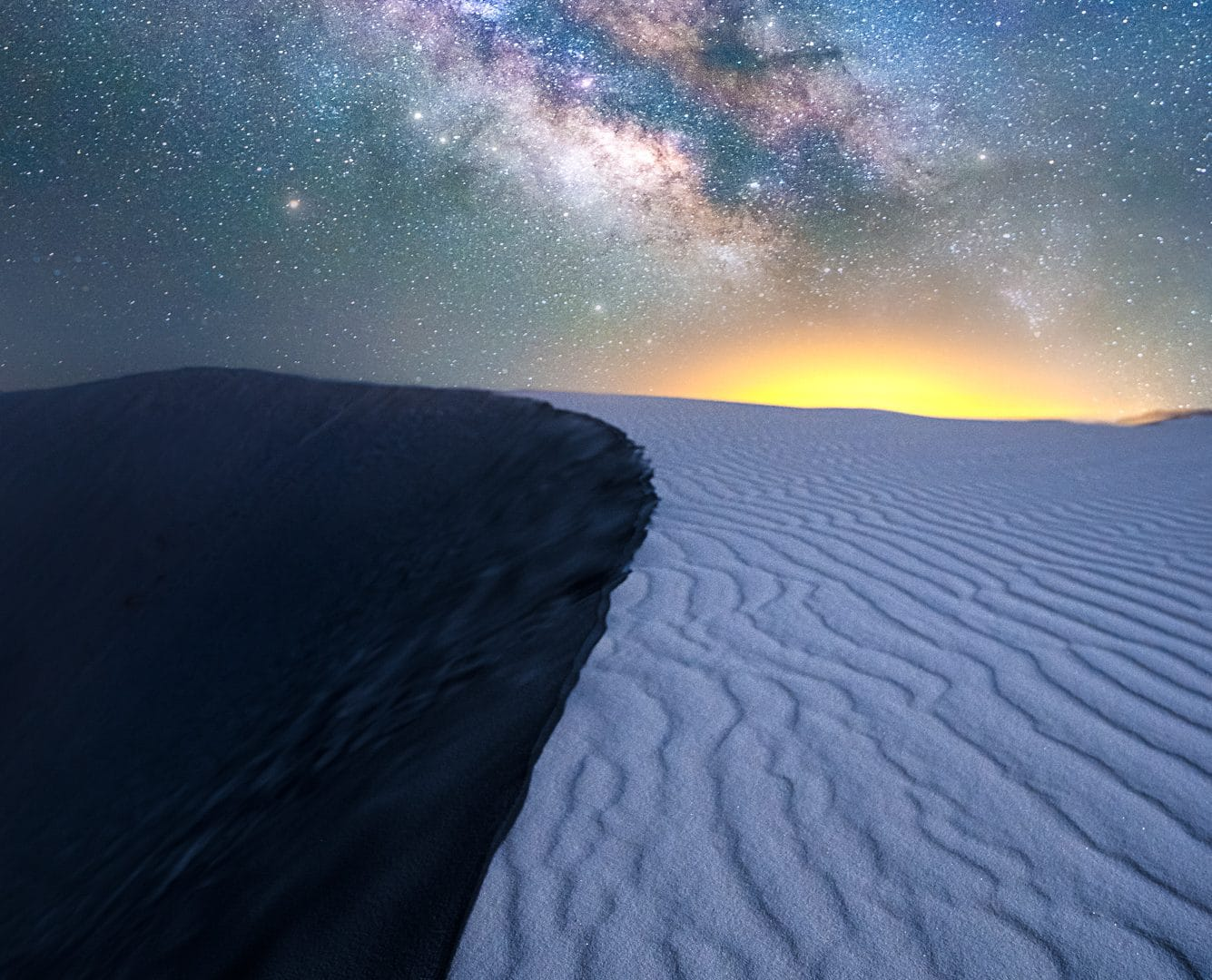 Milky Way over White Sands