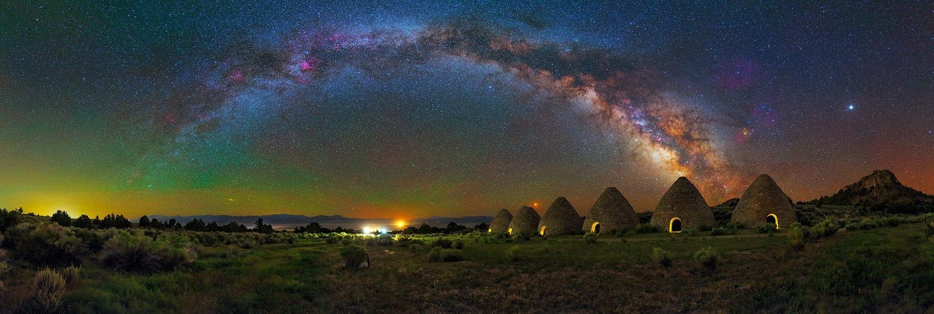 Ward Charcoal Ovens – Panorama Milky Way