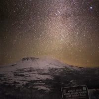 Mt. St. Helens Under the Tail of a Decemeber Milkyway