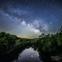 Mothers Day Milky Way over the Meramec River